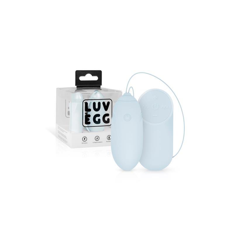 Huevo Vibrador Control Remoto USB Azul