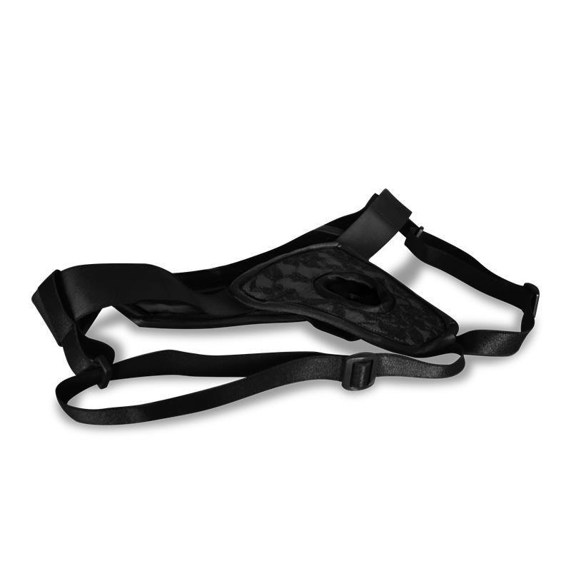 Arnés de Luxe Sin Espalda Negro S - XL